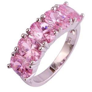 Jewelry - Exquisite🛍925 Natural pink topaz Ring Switzerland